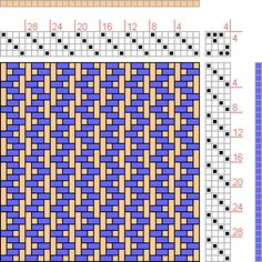 Hand Weaving Draft: Back And Forth Twill, , 4S, 4T - Handweaving.net Hand Weaving and Draft Archive