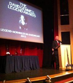 Stan Nicholls introducing the David Gemmell Legend Awards
