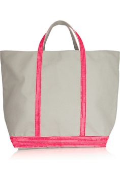 Vanessa Bruno sequined canvas tote... chic alternative to the classic LL Bean canvas tote