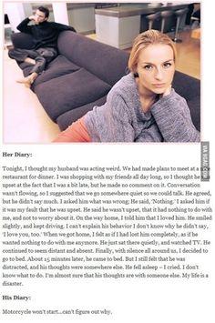 ENFJ - his diary vs. her diary