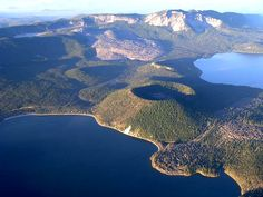 Newberry Volcano is the largest volcano in the Cascades volcanic arc and covers an area the size of Rhode Island