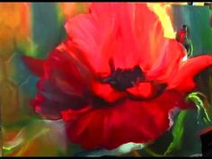 Amazing flower paintings techniques! Your painting per hour! Paint poppies Oil painting tutorial - YouTube