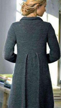 Вязание пальто спицами