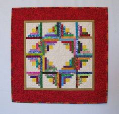 Miniature Scrappy Log Cabin Patchwork Quilt by SidelineQuilts, $65.00