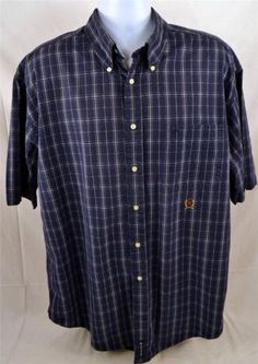 Tommy Hilfiger Men's Size XL Short Sleeve Button Down 100 Cotton Shirt | eBay