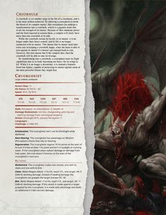 DnD Homebrew — Dark Arts Player's Companion Monsters Part 1 by. Dungeons And Dragons 5e, Dungeons And Dragons Homebrew, Dark Dungeons, Twilight Princess, Dnd Stats, Science Fiction, Dnd Races, Dungeon Master's Guide, Dnd 5e Homebrew