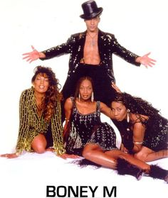 Boney M. is a vocal group created by German record producer Frank Farian. Originally based in Germany, the four original members of the group's official line-up were Jamaican-born singers Liz Mitchell and Marcia Barrett, Maizie Williams from Montserrat and Bobby Farrell from Aruba. The group was formed in 1976 and achieved popularity during the Disco era of the late 1970s. http://www.bigfootevents.co.uk/entertainment/Stars-and-Celebrities/Star-Names/Boney-M-Feat-Maizie-Williams