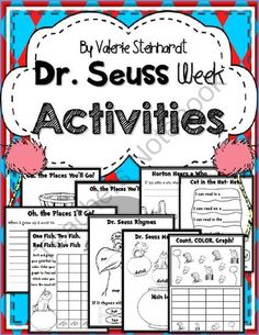 Dr. Seuss Activities from vsteinhardt on TeachersNotebook.com - (12 pages) - Tons of fun activites of Dr. Suess!