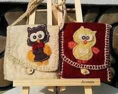 Owl Felt Bag