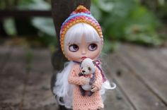 TBL Blythe doll at STOCK pink blythe OOAK by AnnKirillartPlace