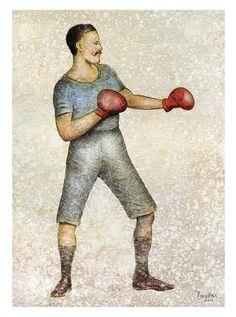 Boxer Illustration (Print)
