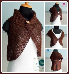 Looking for a crochet short vest pattern? Here's a chic crochet shawl cir-collar vest with ribbed texture, free written pattern in US crochet terms. Crochet Circle Vest, Crochet Vest Pattern, Crochet Circles, Crochet Cardigan, Crochet Shawl, Crochet Stitches, Crochet Patterns, Crochet Sweaters, Chrochet
