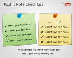 Plantilla PowerPoint con Lista de Tareas en Notas Post-It