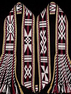 tablet-woven band by Linda Hendrickson with traditional motifs of the Mamasa Toraja