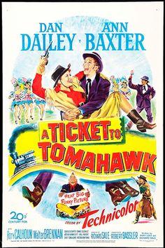 Western, Comedia, 1950, Billete a Tomahawk