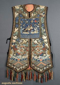 Augusta Auctions, May 2007 Vintage Clothing & Textile Auction, Lot 197: Womans Kesi Vest, Late 19th C