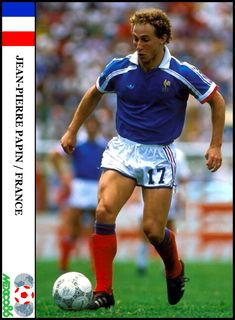 Jean Pierre Papin, Mexico 86, Team 2, Patrick Swayze, World Cup, Chelsea, France, Baseball Cards, Running