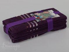 Набор полотенец BALE фиолетовый 30х50 (3шт) от Karna (Турция) - купить по низкой цене в интернет магазине Домильфо