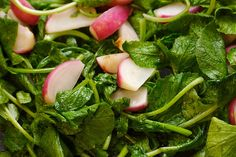 sautéed radishes and radish greens