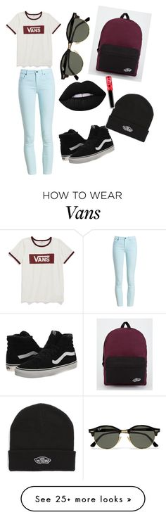 """""""Vans are life💋👌🏾😎"""" by bb-cashout on Polyvore featuring Vans, Barbour, Lime Crime, Ray-Ban and BackToSchool"""