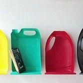 Organizando objetos com reutilização de embalagens plásticas