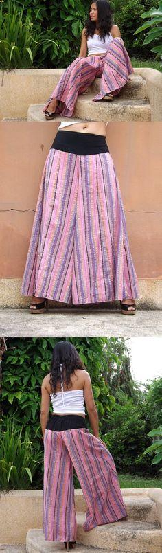 Wide Leg Pants ...Skirt Pants ...Wide Leg Striped Pants by Ablaa