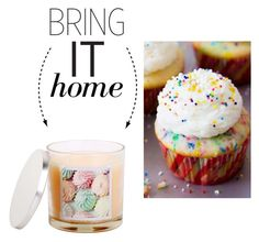"""""""Bring It Home: Vanilla Cupcake Candle"""" by polyvore-editorial ❤ liked on Polyvore featuring interior, interiors, interior design, home, home decor, interior decorating, Sonoma life + style and bringithome"""
