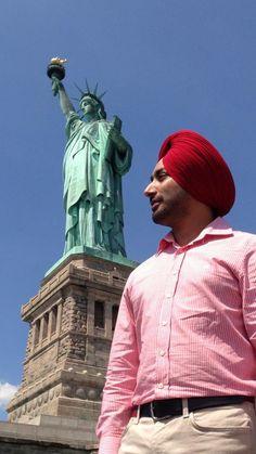 Satinder Sartaaj visited The Statue of Liberty,at Liberty island, Manhattan, New York.