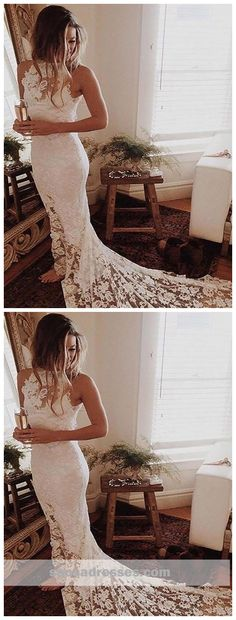 Romantic Boho Wedding Dresses Princess Backless Lace Skirt Mermaid Elegant White Wedding Gowns · meetdresse · Online Store Powered by Storenvy Outdoor Wedding Dress, White Wedding Gowns, Custom Wedding Dress, Lace Mermaid Wedding Dress, Princess Wedding Dresses, Perfect Wedding Dress, Bridal Wedding Dresses, Lace Wedding, Romantic Princess