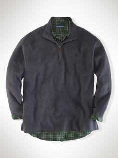 9740abc72d456 French-Rib Fleece Half-Zip - Big   Tall See All Big   Tall - RalphLauren.com