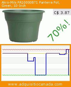 Akro-Mils PA10000B71 Panterra Pot, Green, 10-Inch (Lawn & Patio). Drop 70%! Current price C$ 3.87, the previous price was C$ 12.80. https://www.adquisitiocanada.com/akro-mils/pa10000b71-panterra-pot