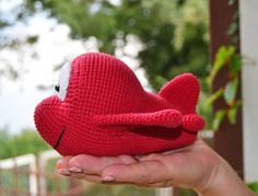Amigurumi cartoon airplane crochet pattern