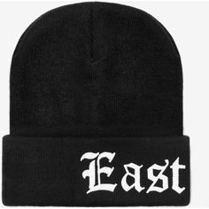 Big East Coast Beanie ($44) ❤ liked on Polyvore featuring accessories, hats, ribbed beanie, beanie cap hat, embroidery hats, beanie cap and embroidered hats