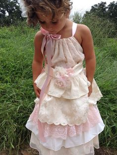 Princess Dress    BOHO Girls Dress    VIntage French by RainRene 91dc1751e84e