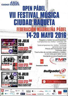 Open pádel VII Festival Música Ciudad Raqueta FMP en Ciudad de la Raqueta #PádelCompetición #Pádel #Torneo.