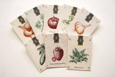 Oohhhh, seed packages. Illustrations are pretty. but I think I'd want something more modern-looking.