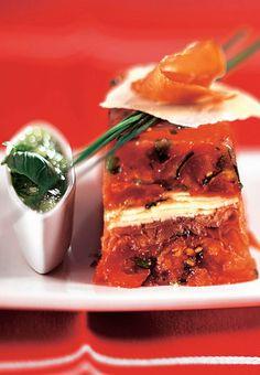 Terrine aux 2 tomates, parmesan et jambon cru