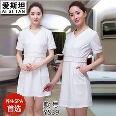 Spa smock regimen beautician overalls salon technician overalls women dress High-grade fabrics comfortable unifoms