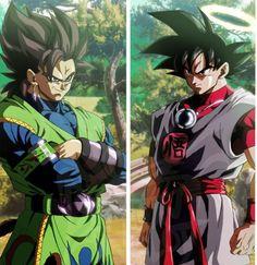 Goku e Kakarotto Dragon Ball Gt, Akira, Evil Goku, Kawaii 365, Mega Anime, Power Rangers, Fan Art Anime, Manga Dragon, Goku Vs