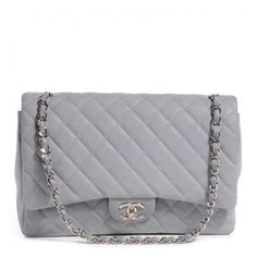CHANEL Iridescent Caviar Maxi Double Flap Grey ❤ liked on Polyvore featuring bags, handbags, purses, chanel, leather handbags, hand bags, leather purses, leather shoulder handbags and man shoulder bag