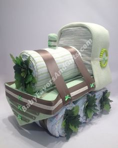 Train Diaper Cake http://babyfavorsandgifts.com/train-diaper-cake-p-70.html