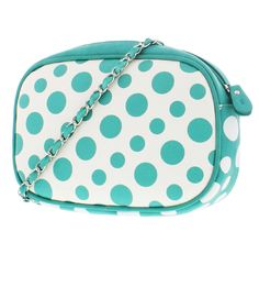 0598b348eb06 Gorgeous Melie Bianco designer handbag designed with various size polka  dots in contrast colors on the