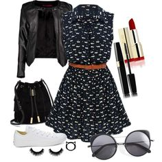 A fashion look from September 2015 featuring Boohoo jackets, Converse sneakers and Vince Camuto shoulder bags. Browse and shop related looks.