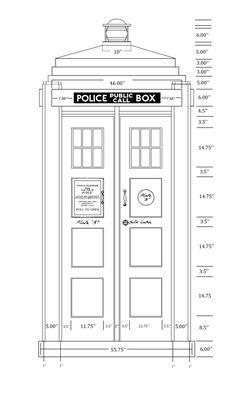 TARDIS scale drawing. To build a Tardis, or not build a Tardis....
