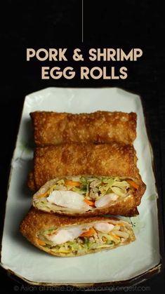 Shrimp Egg Rolls, Chicken Egg Rolls, Pork Egg Rolls, Chicken Spring Rolls, Appetizer Dishes, Appetizer Recipes, Italian Appetizers, Shrimp Recipes, Egg Roll Dipping Sauce