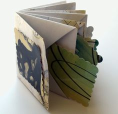 Handmade Book #1756 Blizzard Book Structure with Inserts