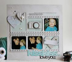 A layout by Nichol Magouirk using cutting files designed by Kerry Bradford Studios.