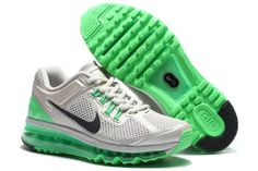2014 Original Nike Air Max 2013 Women Running Shoes Milk Green