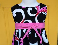 Girls Tea Dress with Empire Bodice and Fully by hollyhockclothing