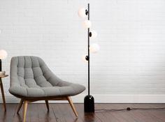 Vetro Floor Lamp, Black and Opal Glass Contemporary Floor Lamps, Modern Floor Lamps, Lighting Sale, Lighting Design, Furniture Sale, Furniture Design, Free Standing Lamps, Light Fittings, Desk Lamp